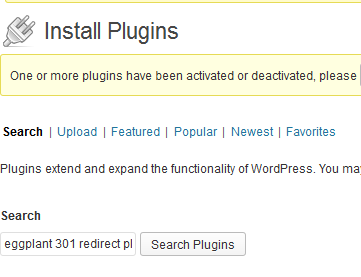 install wordpress 301 redirect plugin